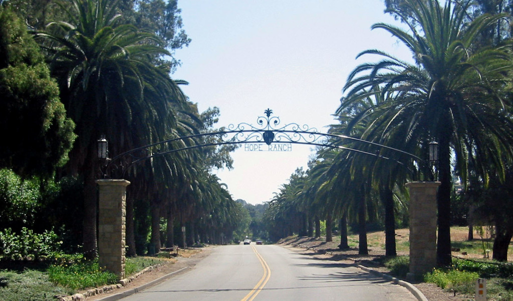 Hope Ranch main gate